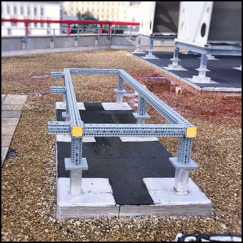 PVCF climatisation - socle du groupe de climatisation