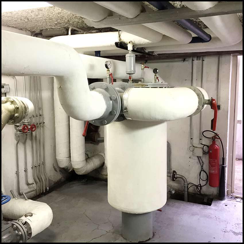 PVCF Chauffage - démontage pot à boue
