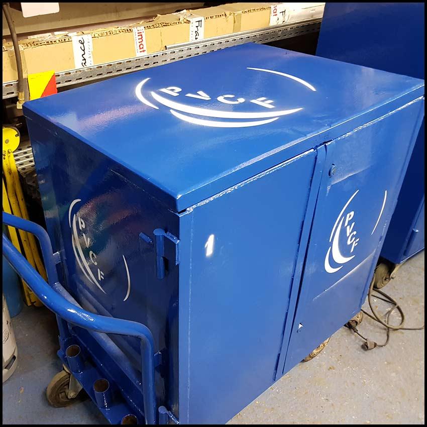 PVCF préfabrication - chariot pour le chantier